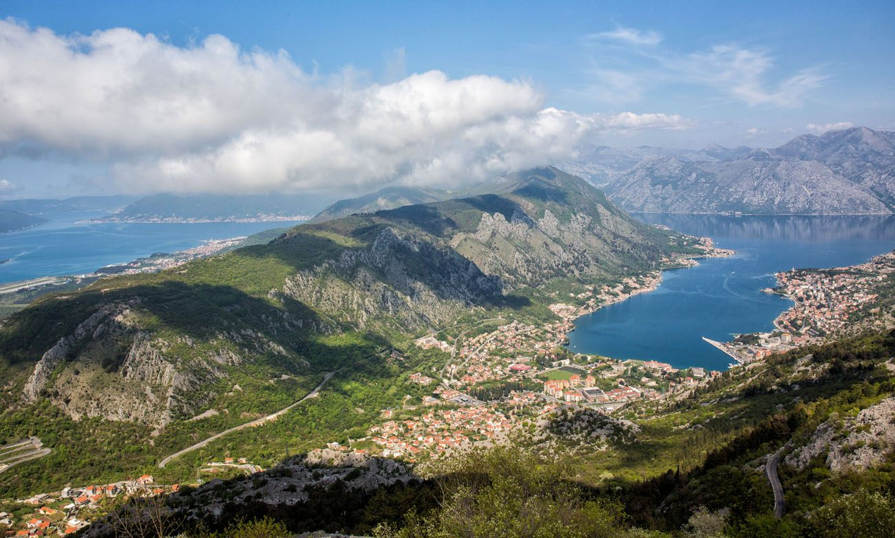 Overlooking Bay of Kotor