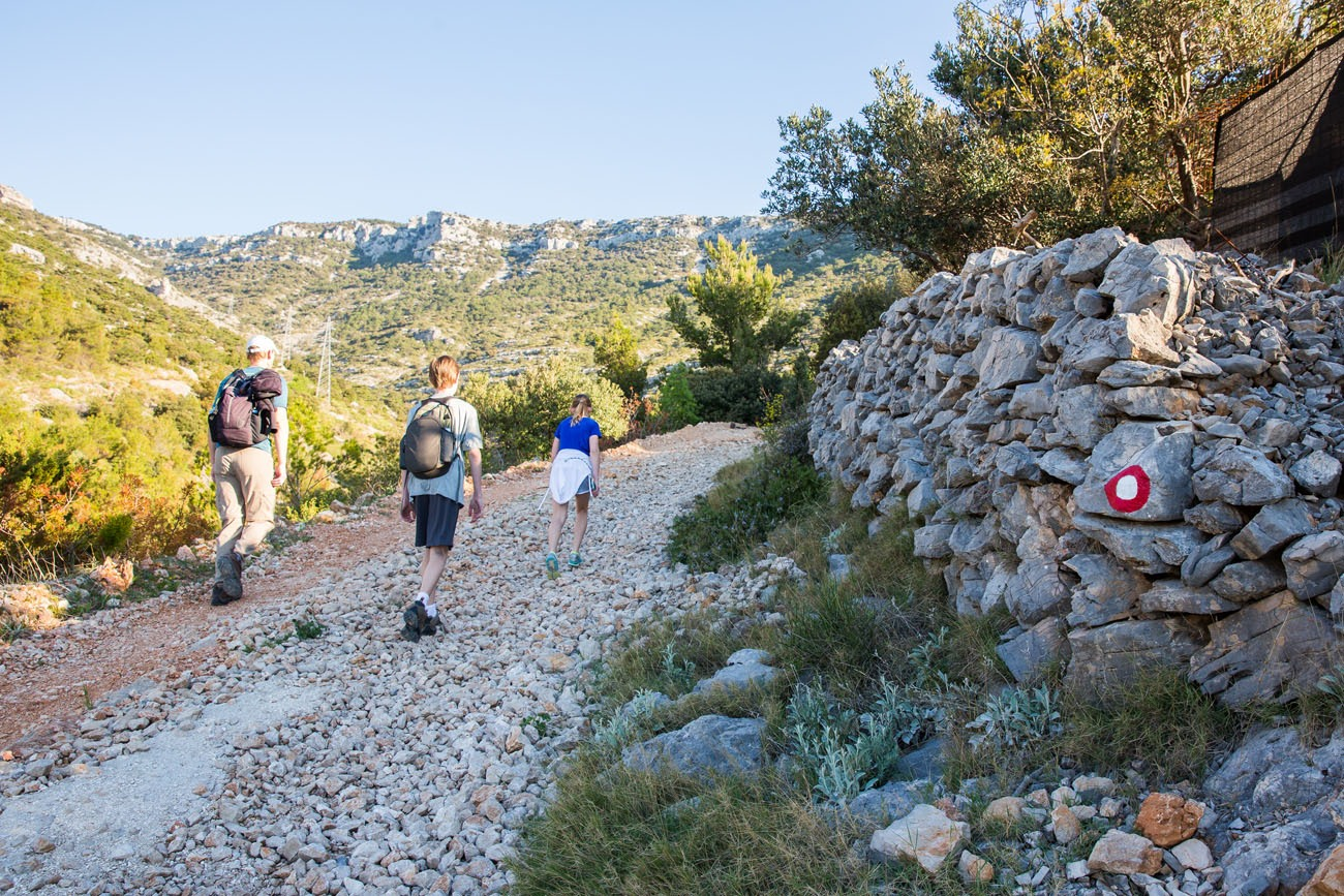 Rocky trail to Vidova Gora