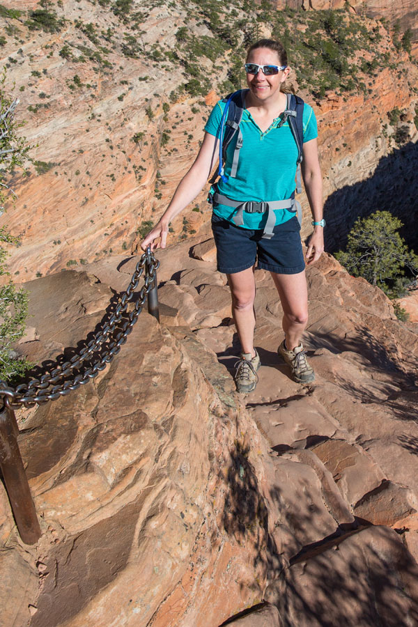 Julie on Angels Landing