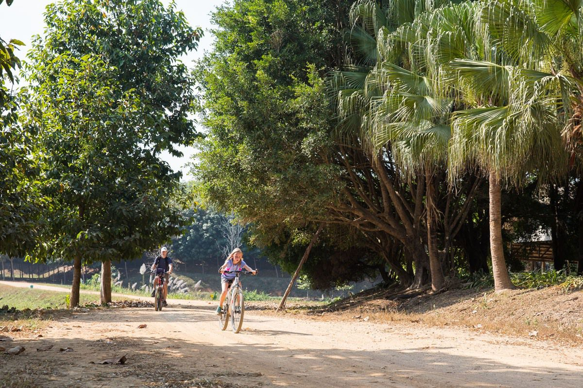 Kara biking in Thailand