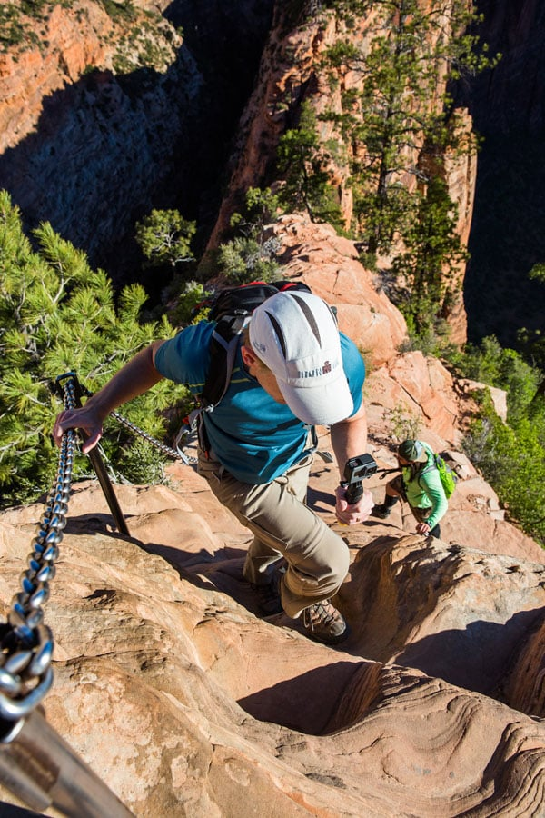 Steep Climb Angels Landing