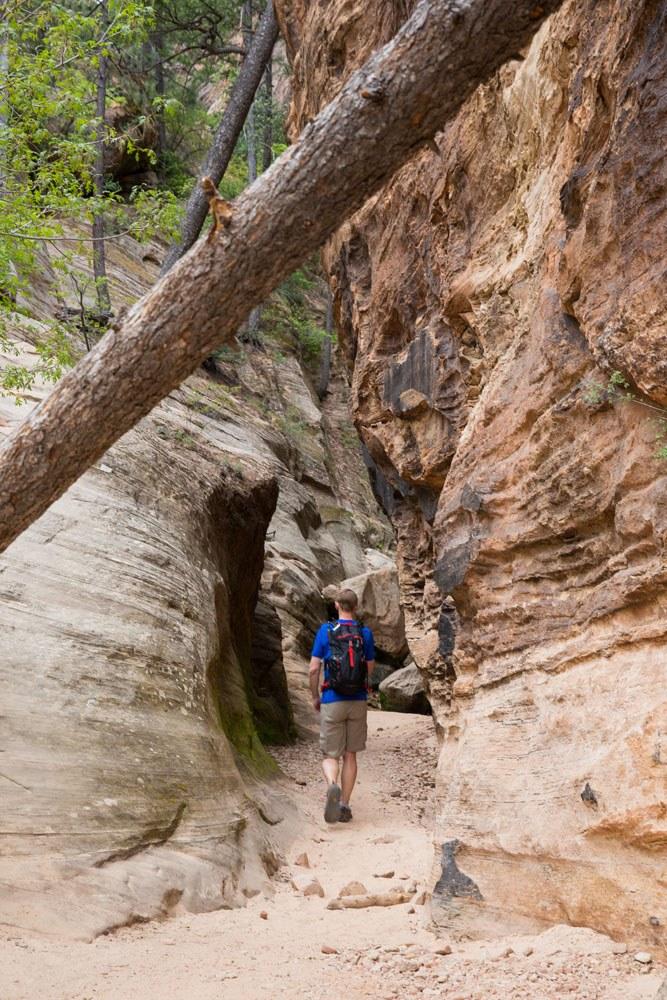Hiking through Hidden Canyon