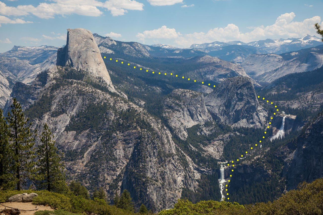 Half Dome Hiking Route