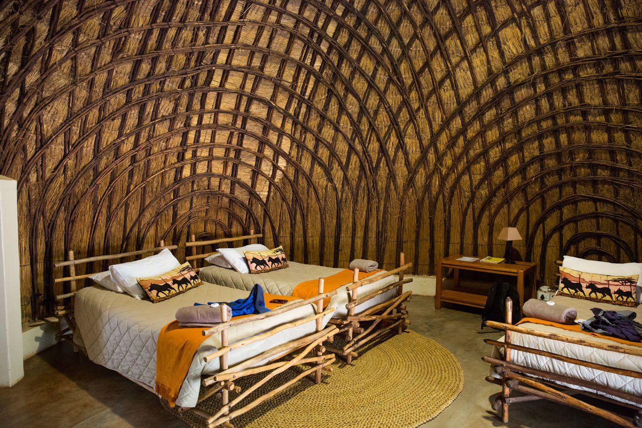 Inside a Beehive Hut