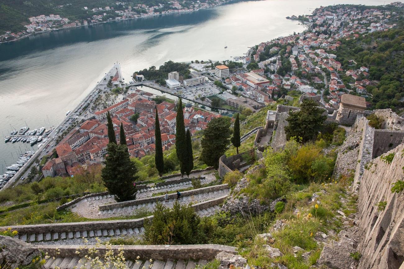 hiking the ladder of kotor in montenegro earth trekkers