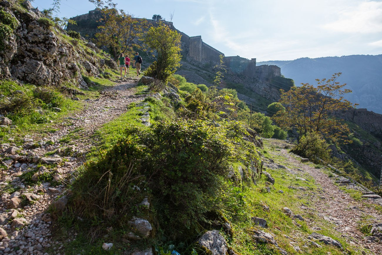 Trail and Castle Walls
