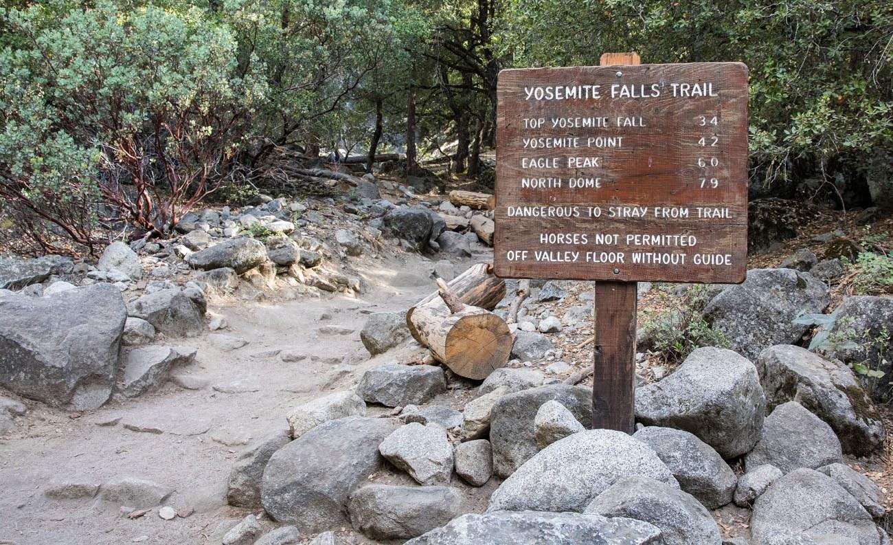 Yosemite Falls Sign