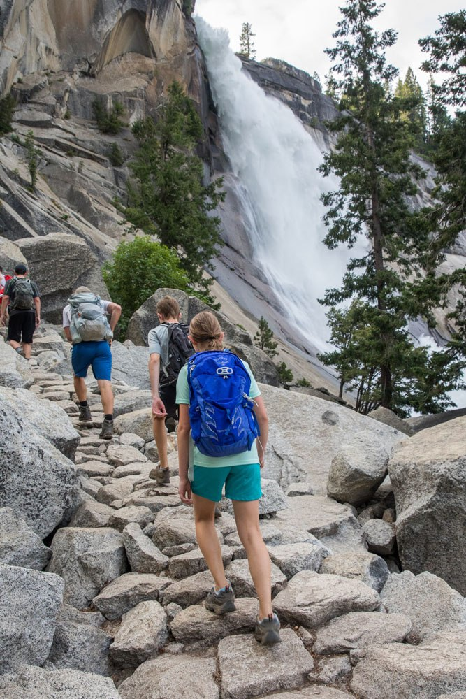 Hiking Nevada Falls