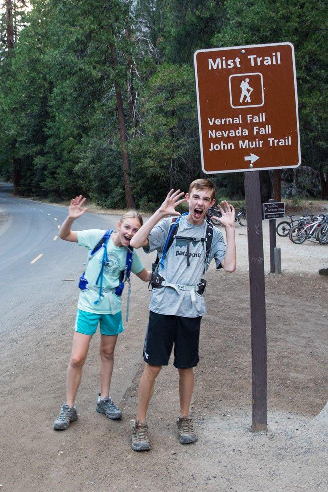 Mist Trail Trailhead