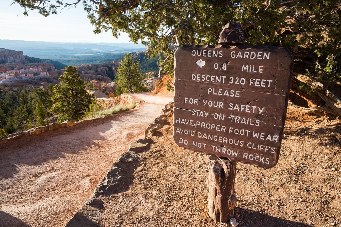 Queens Garden Sign