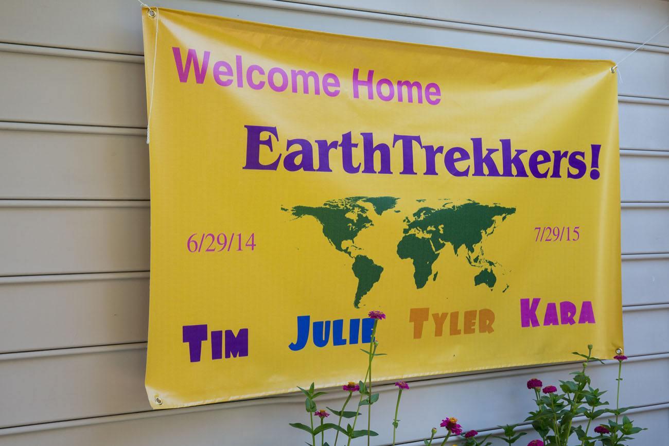 Welcome Home Earth Trekkers