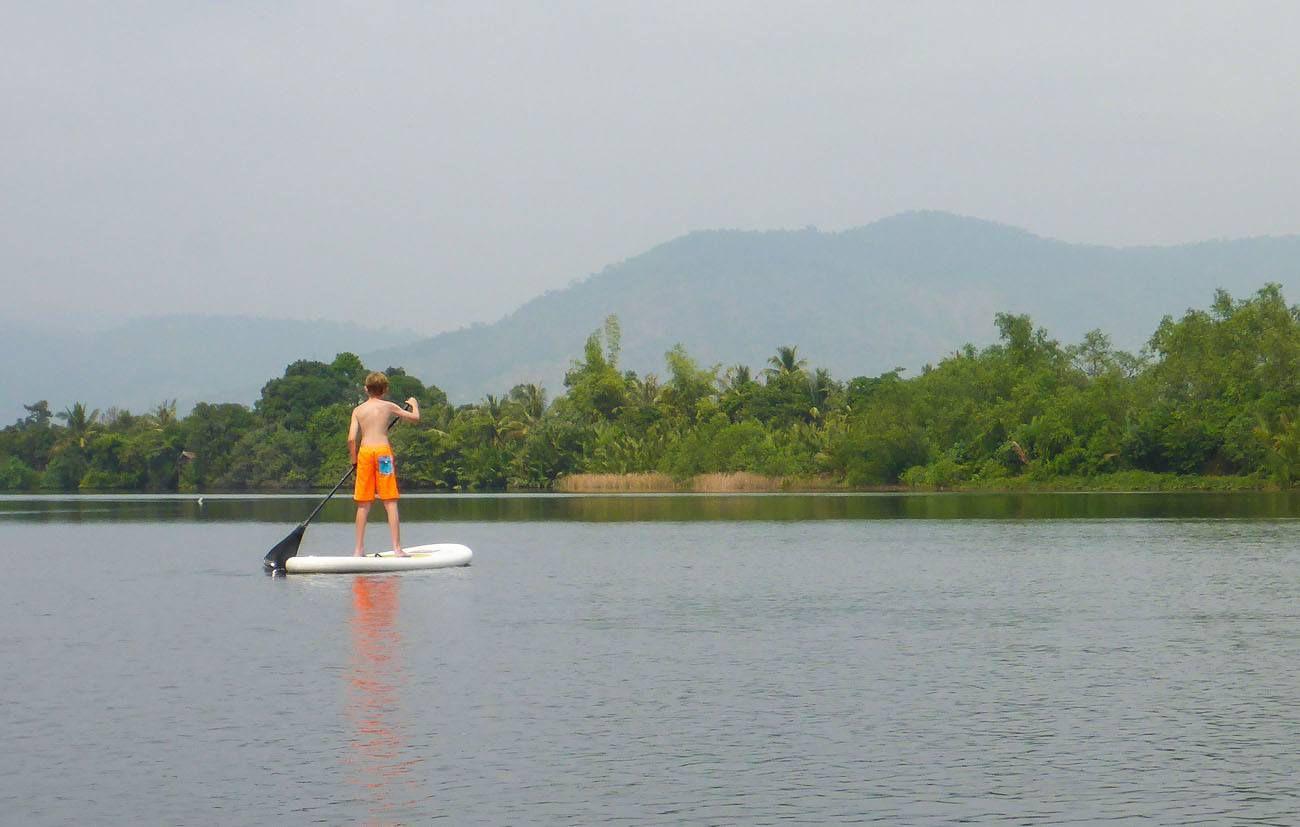 Tyler Paddle Boarding