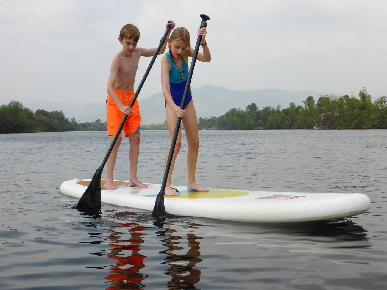 Tyler and Kara Paddle Boarding