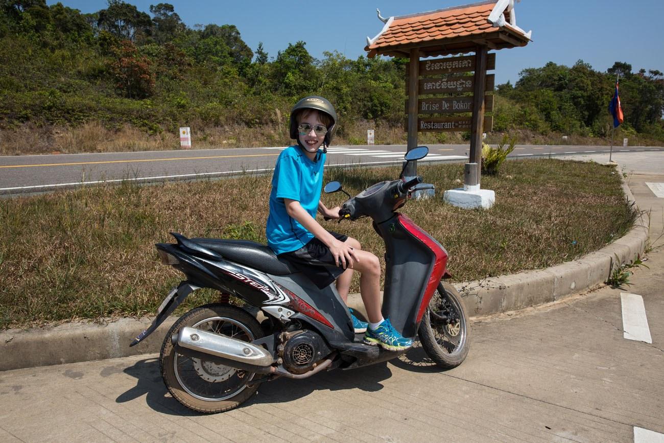 Tyler on a Motorbike