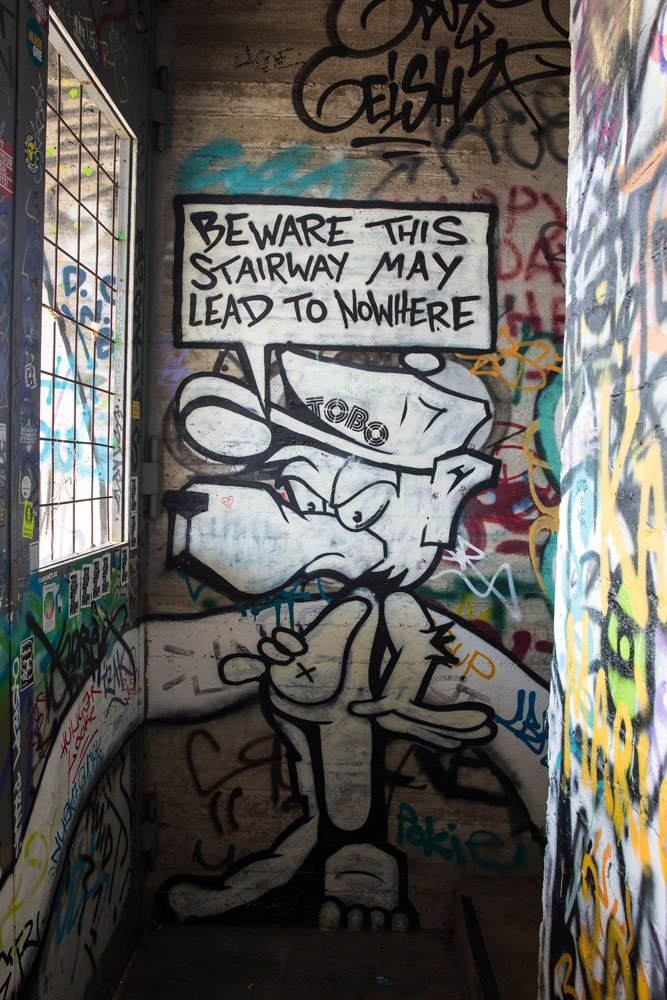 Graffiti at Teufelsberg