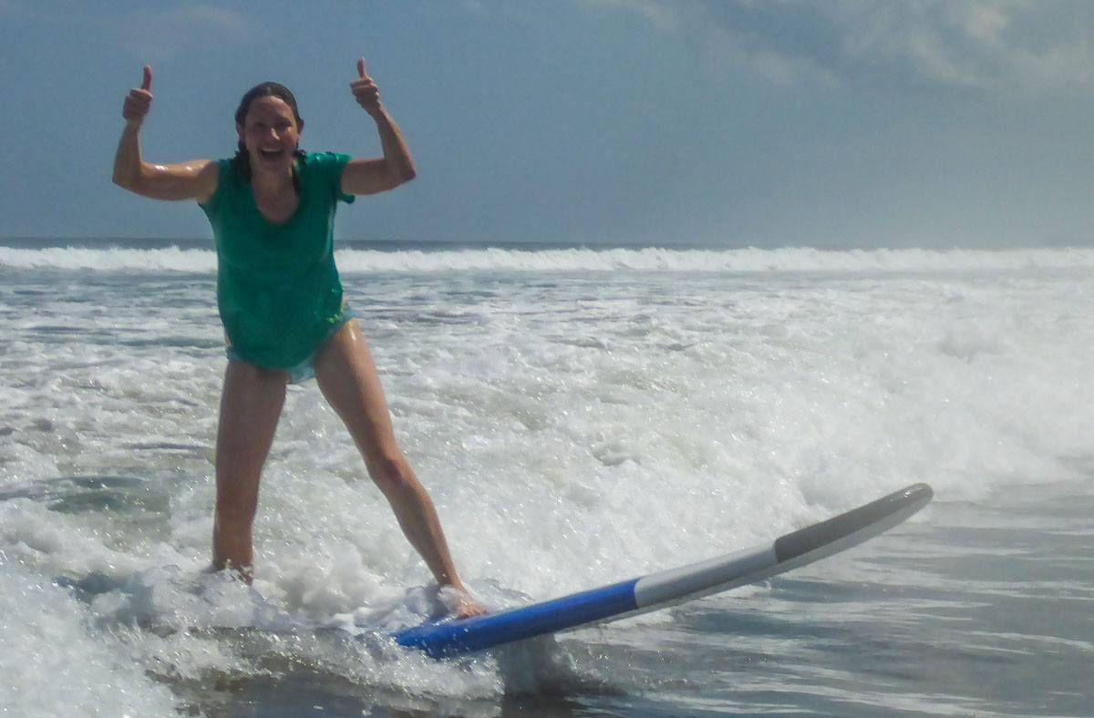 Julie Surfing