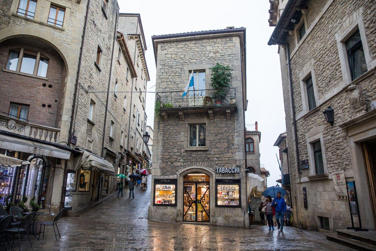 San Marino in Rain