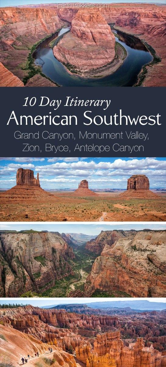 American Southwest Itinerary