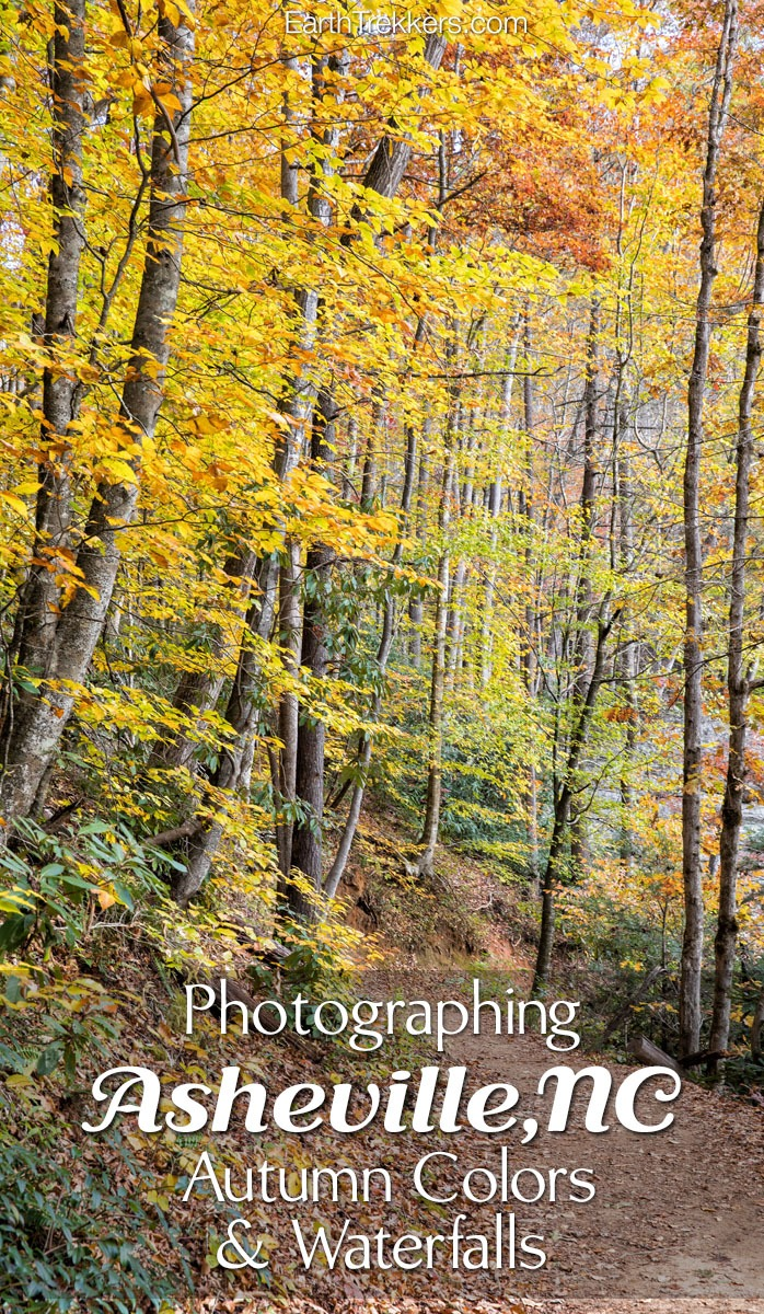 Asheville Waterfalls Fall Colors Photography