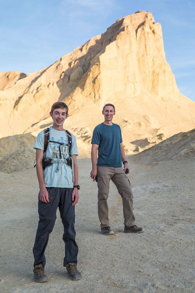 Tim and Tyler Hiking