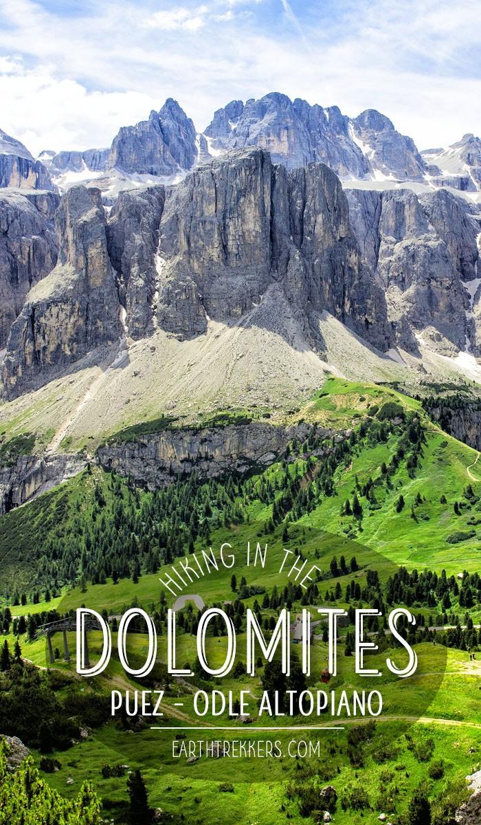 Hiking Dolomites Italy Puez Odle