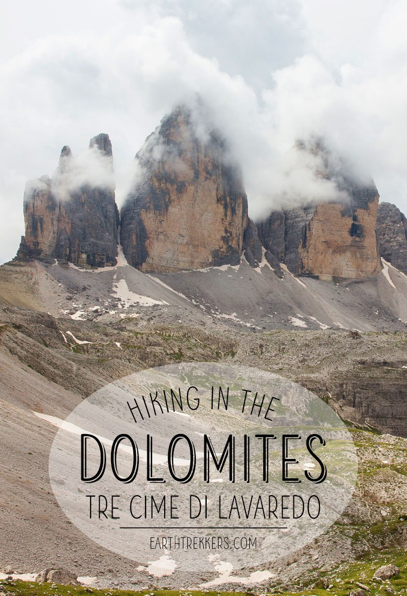 Hiking Dolomites Tre Cime