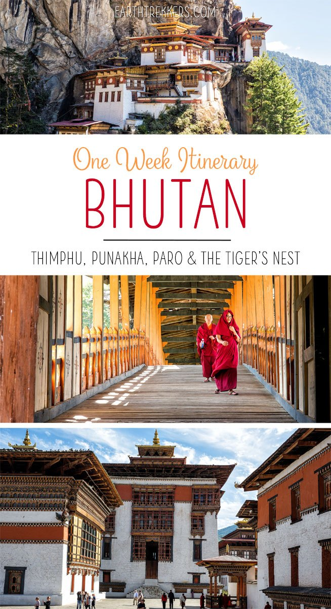 Bhutan Travel Itinerary with Tigers Nest