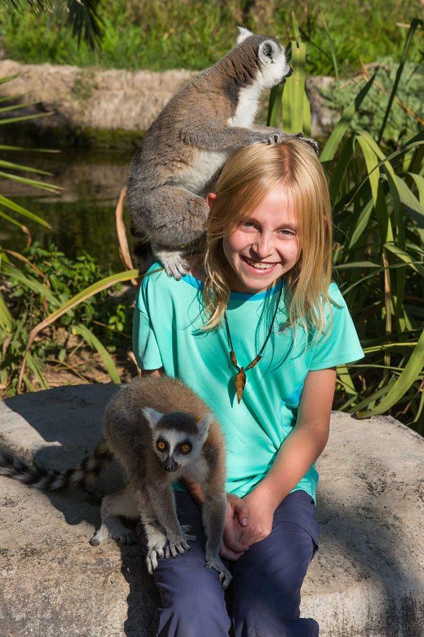 Kara and Lemurs