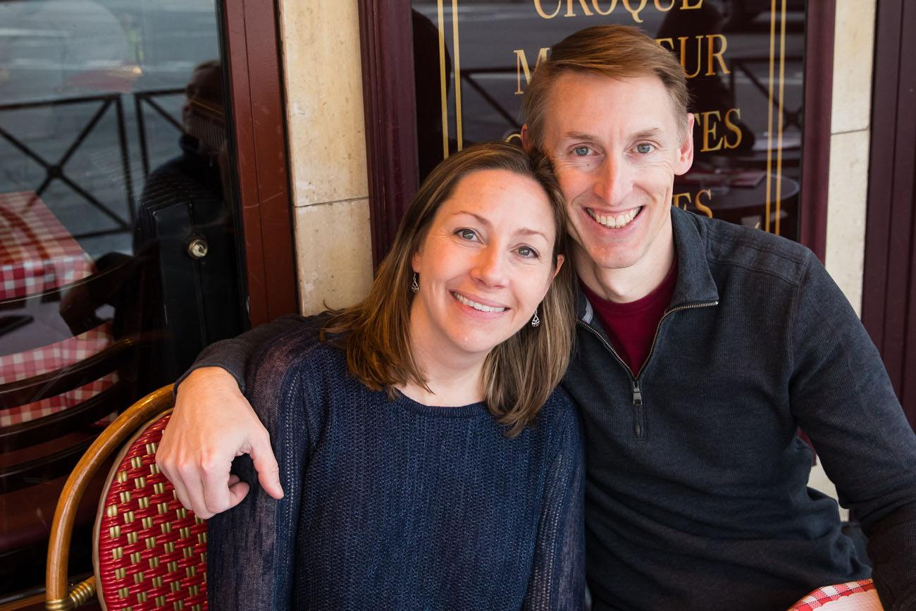 Julie and Tim in Paris