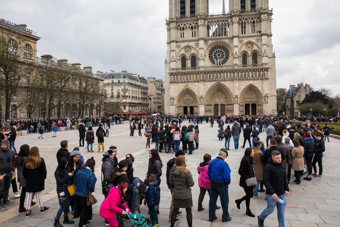 Notre Dame at Easter