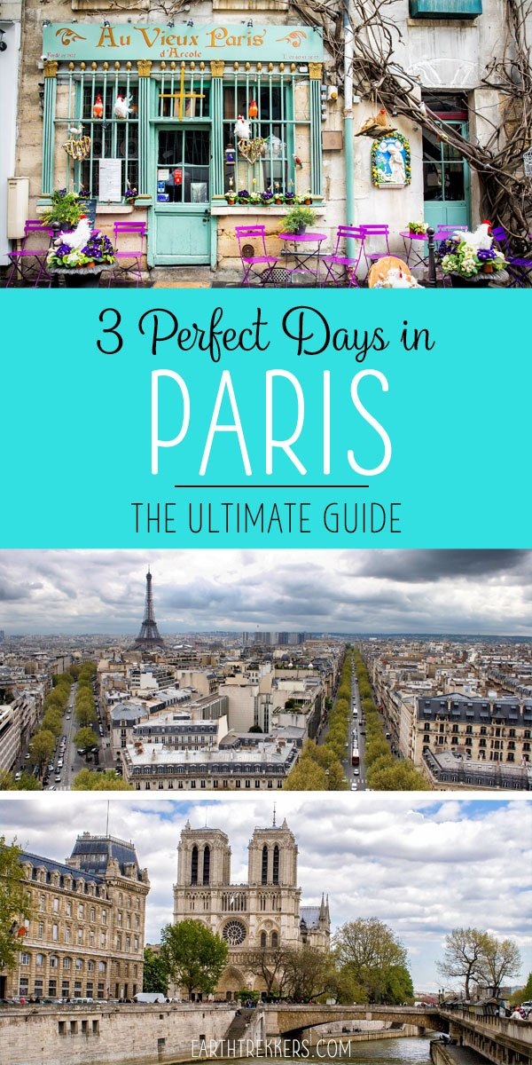 Paris Itinerary Travel Guide