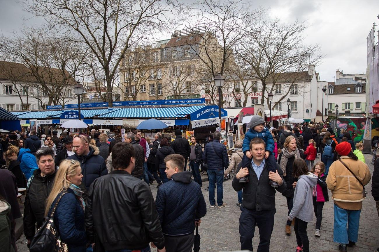 Place du Tertre in April