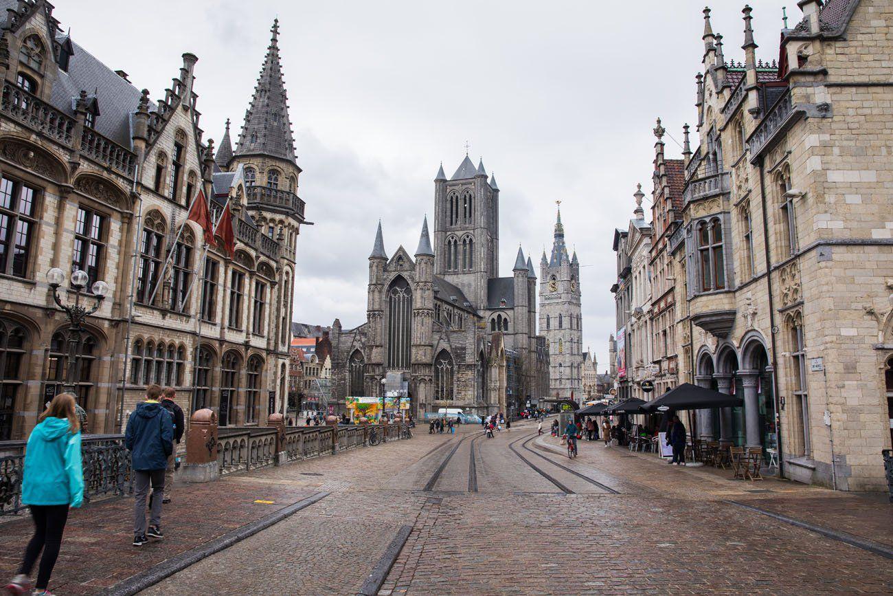 Walking through Ghent
