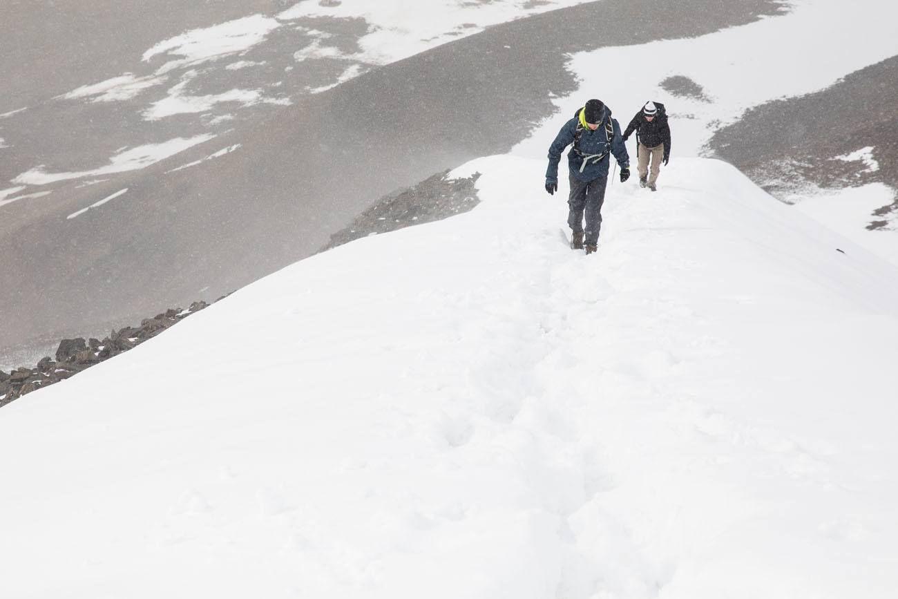 Hiorthfjellet in the Snow