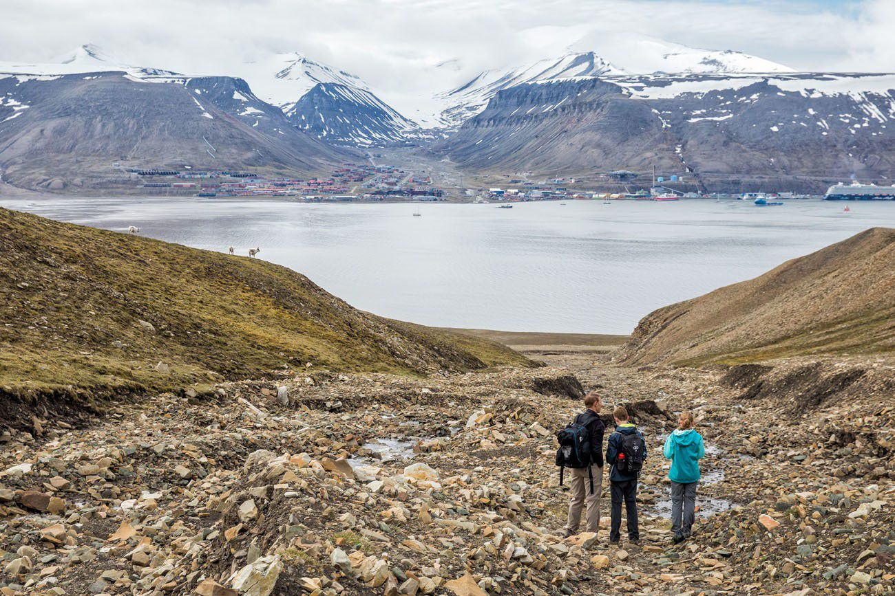 Longyearbyen from Hiorthfjellet