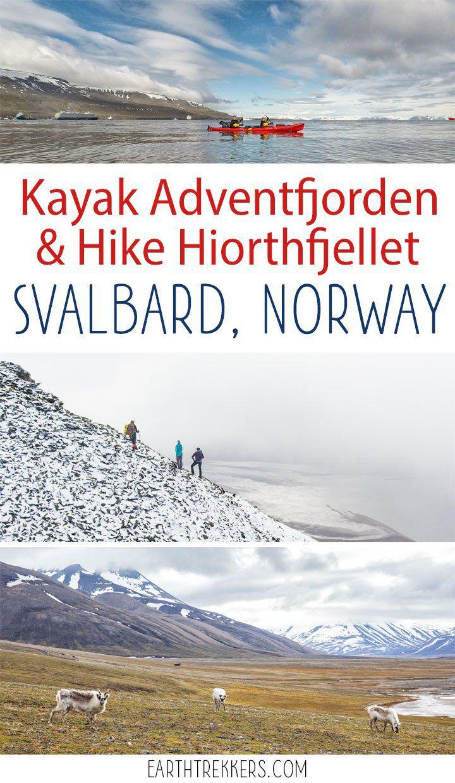 Svalbard Hike Hiorthfjellet Kayak Adventfjord