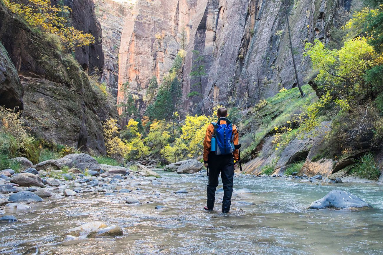 Tim in Zion Narrows