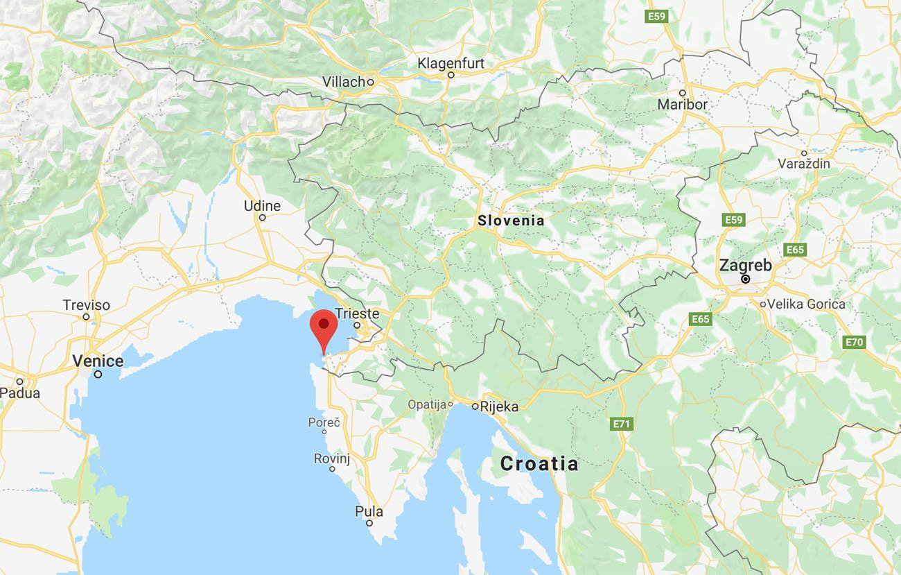 Map of Piran