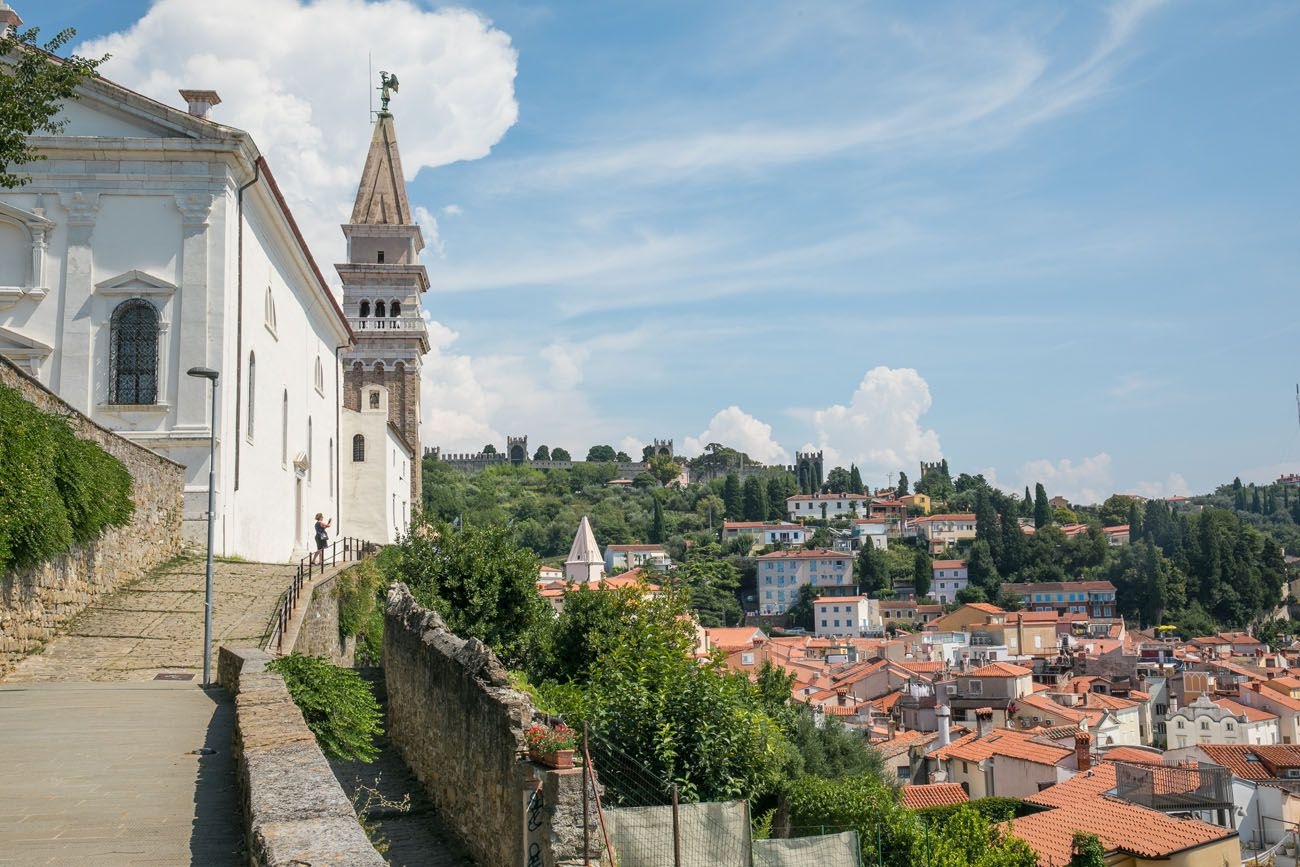 Piran Church and Bell Tower