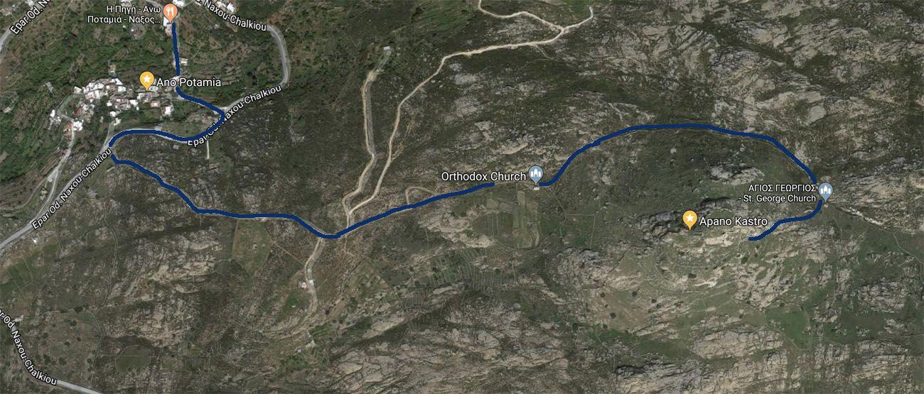 Apano Kastro Hike Map