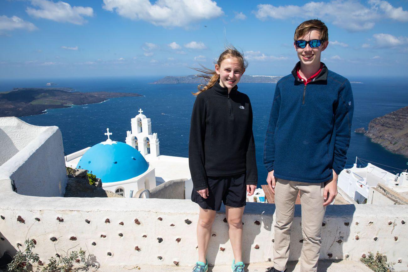 Tyler and Kara in Santorini