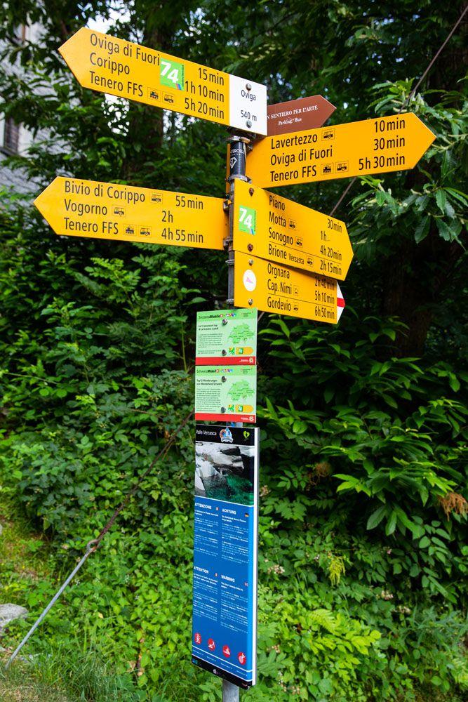 Verzasca Hiking Sign