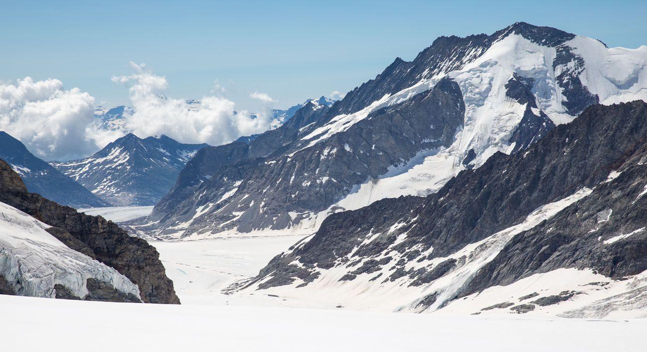 Aletsch Glacier from the Trail Jungfraujoch