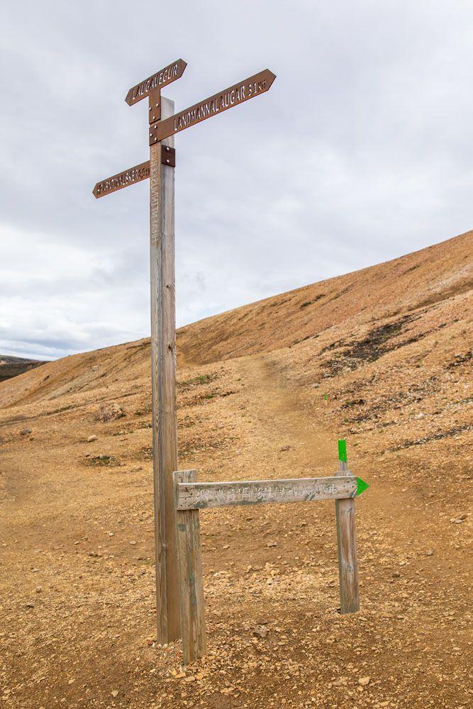 Brennisteinsalda Trail Sign