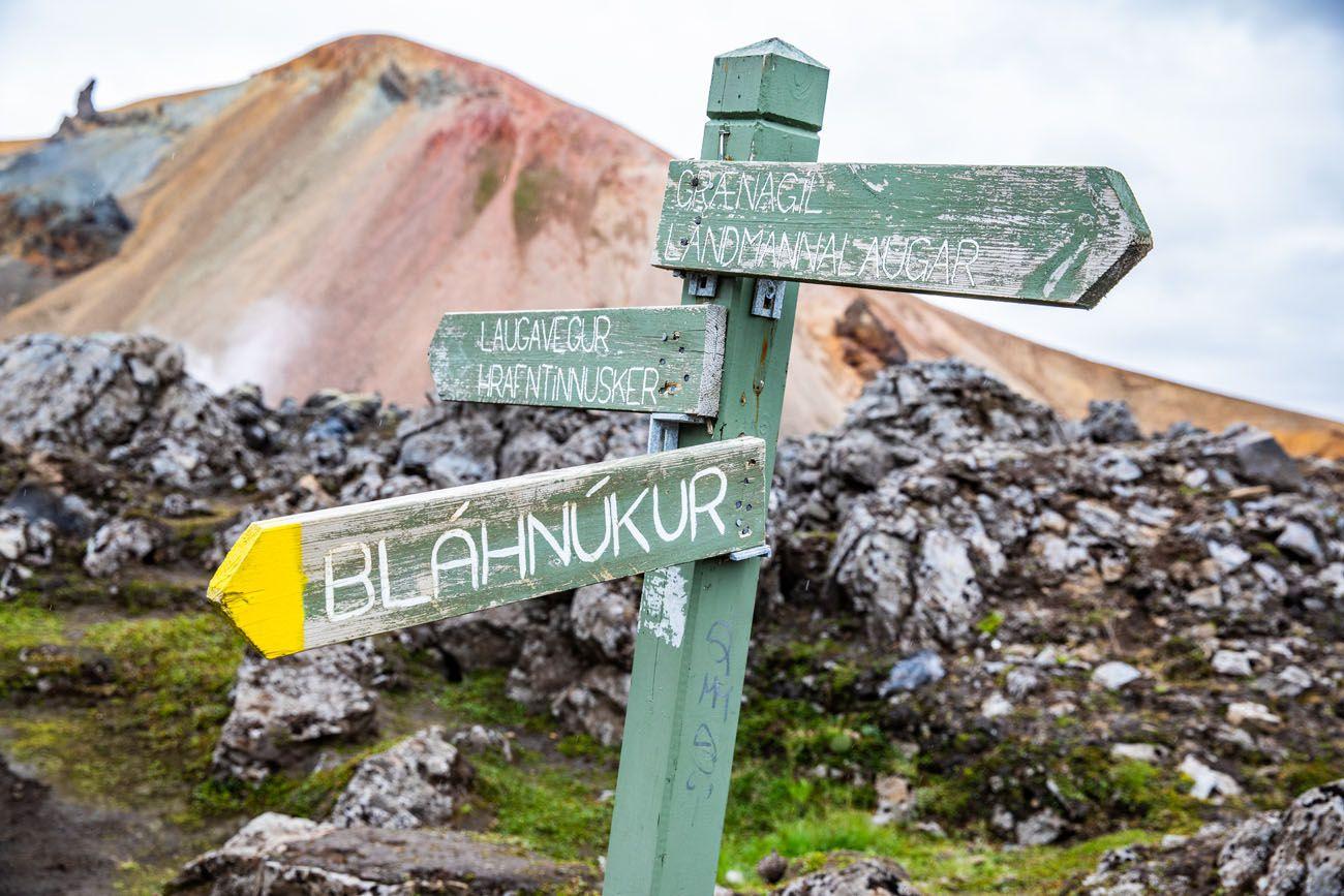 Iceland Hiking Sign