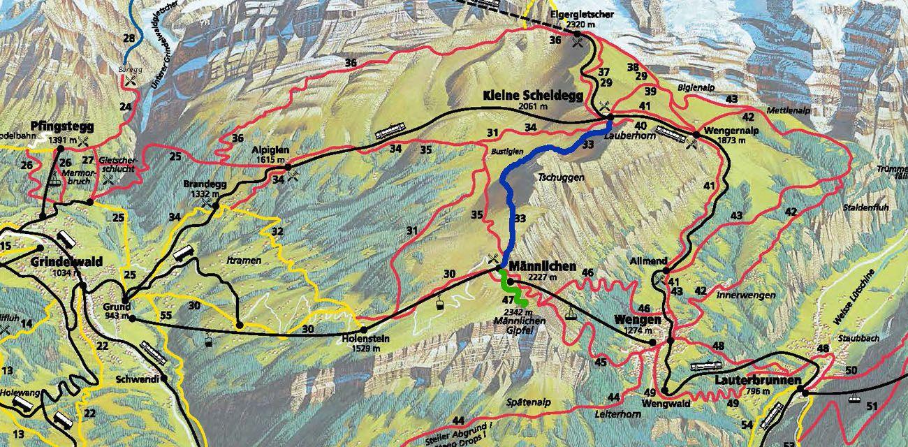 Map for Mannlichen Hiking Trail