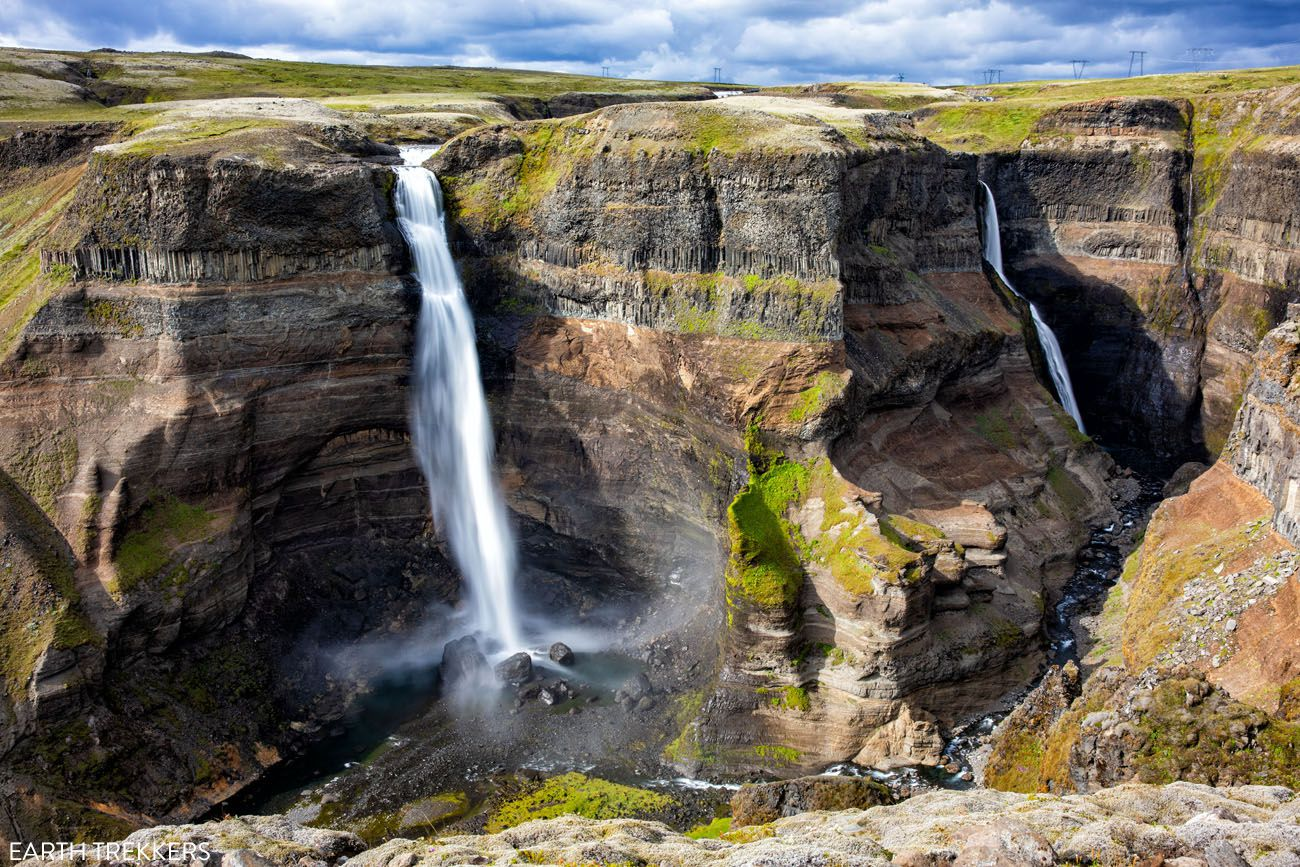 Iceland Itinerary with Haifoss Waterfall