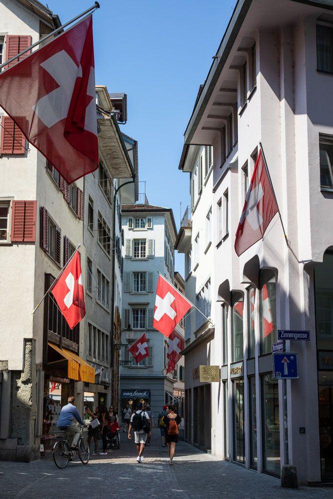 Swiss Flags Zurich
