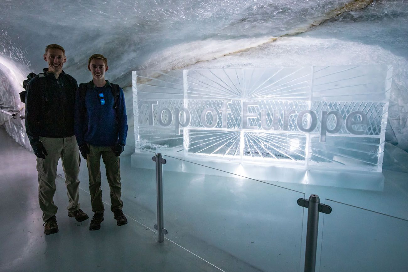 Top of Europe Ice Carving