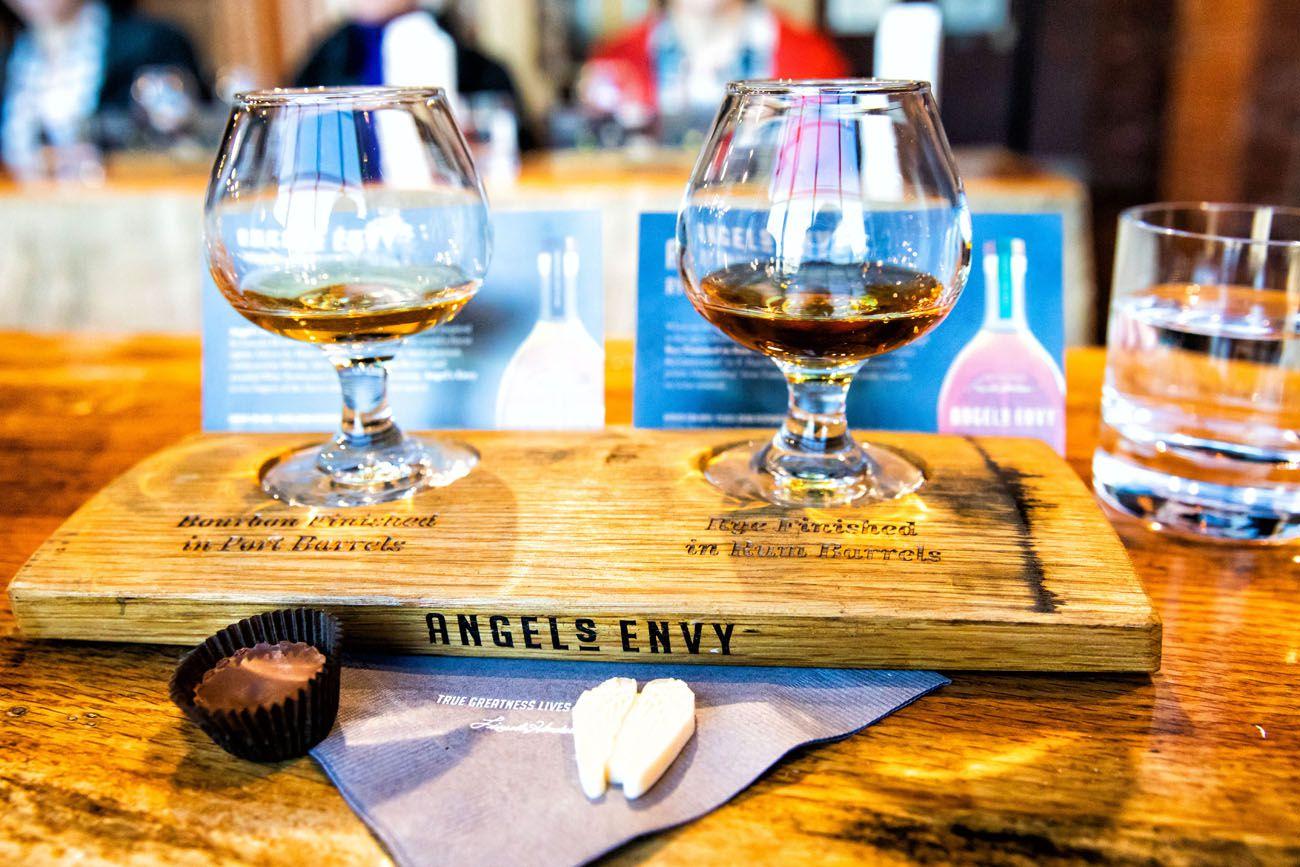 Angels Envy Kentucky Bourbon Trail itinerary
